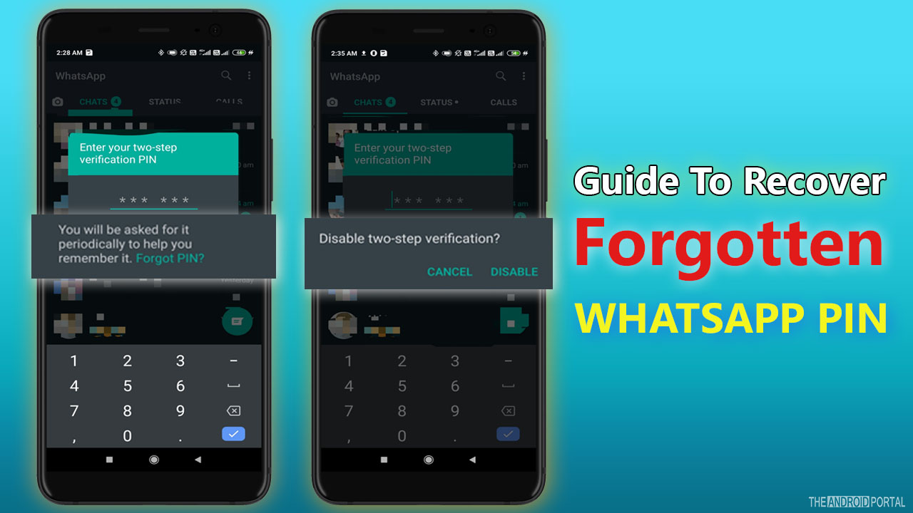 Recover Forgotten Whatsapp PIN Via Email