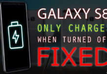 Samsung Galaxy S8 Only Charges When Turned Off - Fixed!