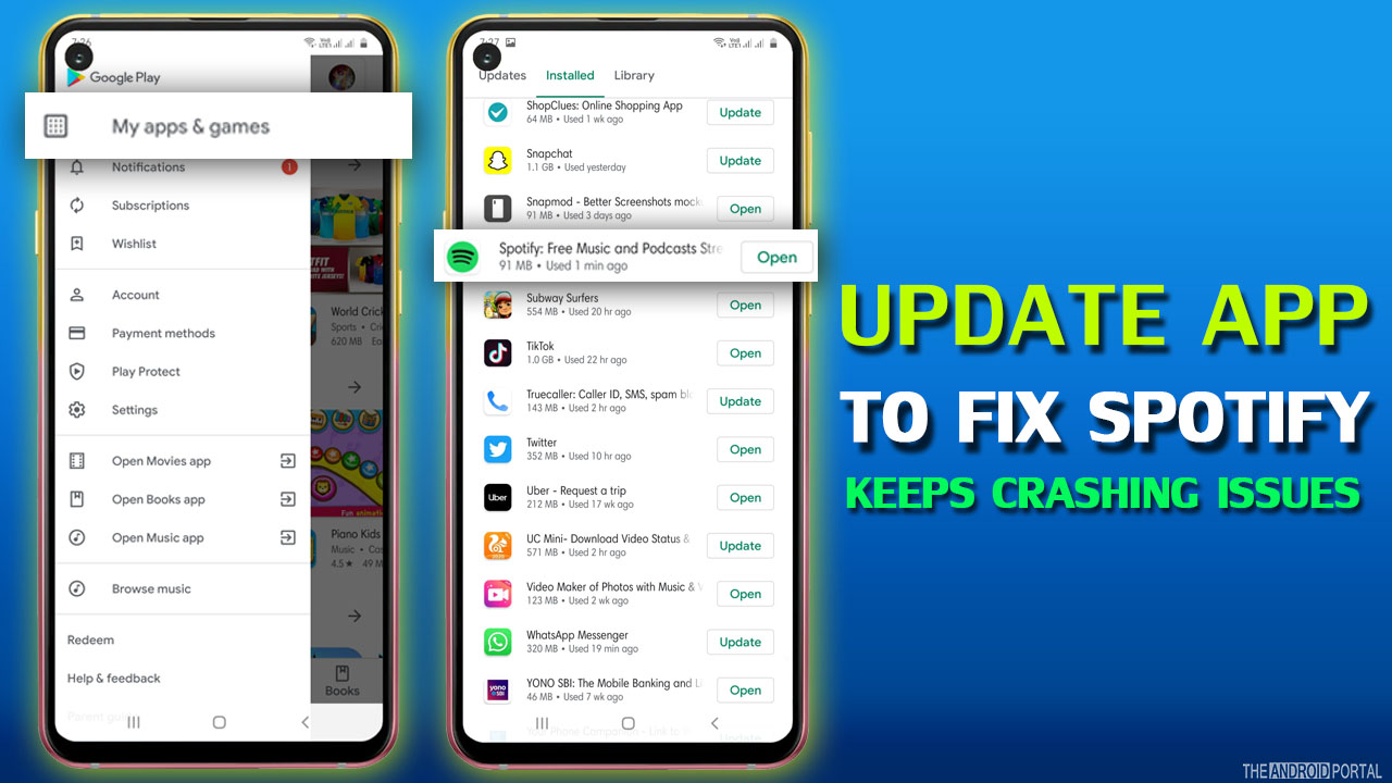 Update App To Fix Spotify Keeps Crashing Issues