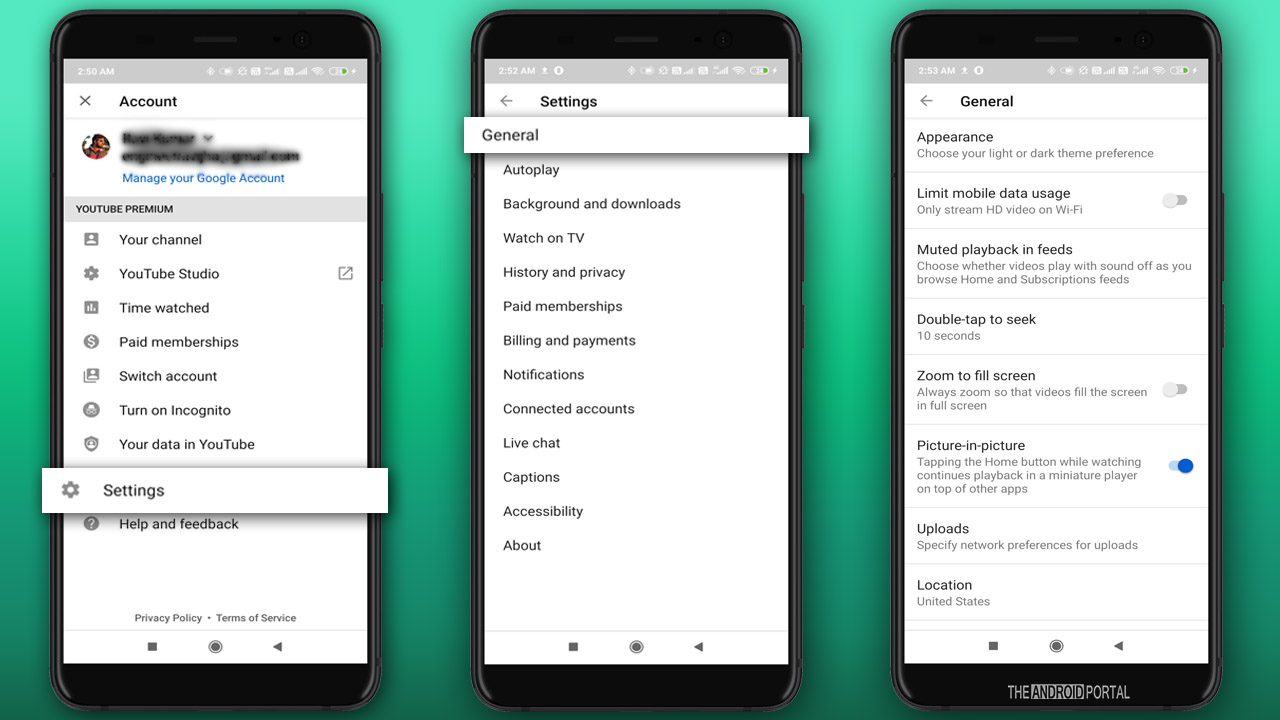 YouTube Language Settings On Android