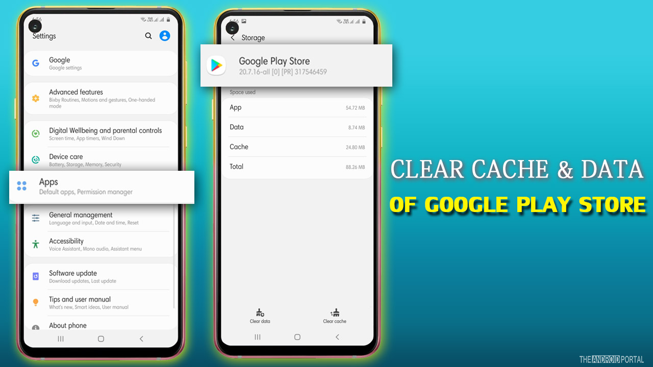 Clear Cache and Data Of Google Play Store
