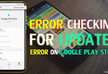 "How To Fix ""Error Checking For Updates"" Error On Google Play Store"