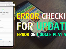 """How To Fix """"Error Checking For Updates"""" Error On Google Play Store"""