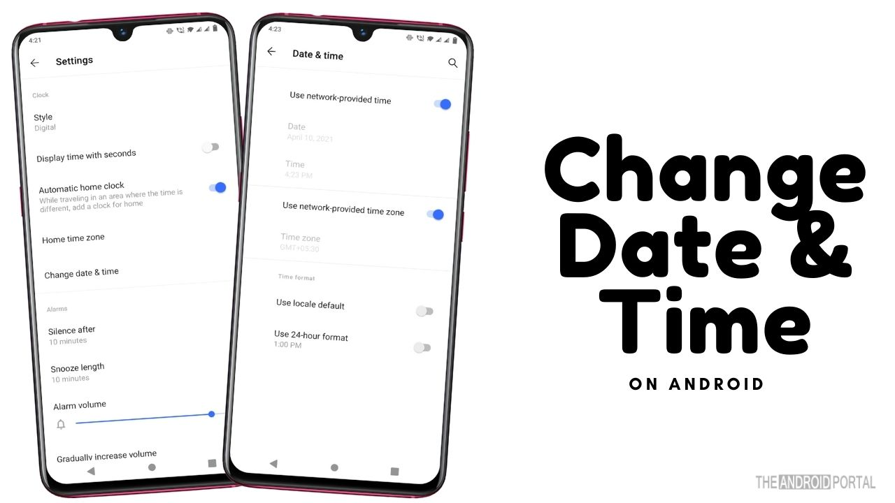 Change The Date And Time Settings on Android