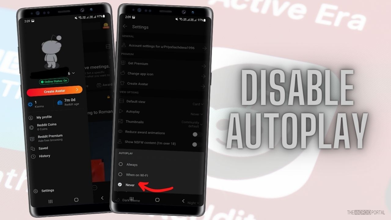 Disable Autoplay In The Reddit Application
