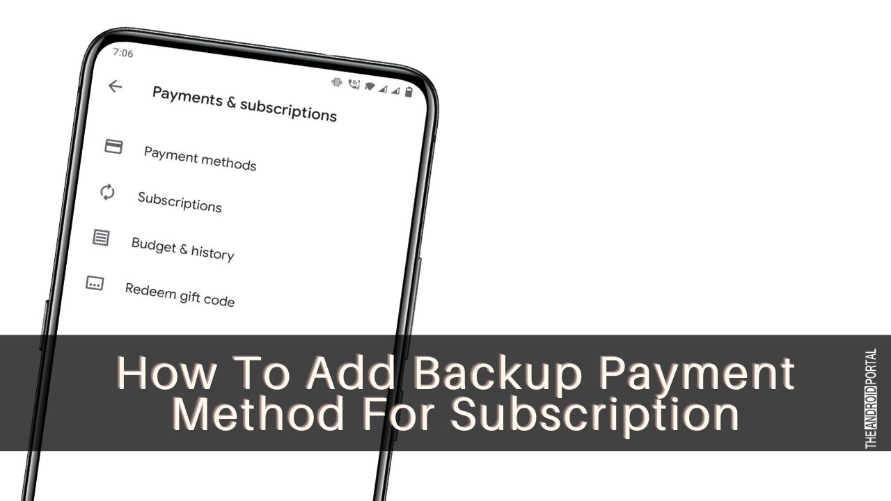 How To Add Backup Payment Method For Subscription