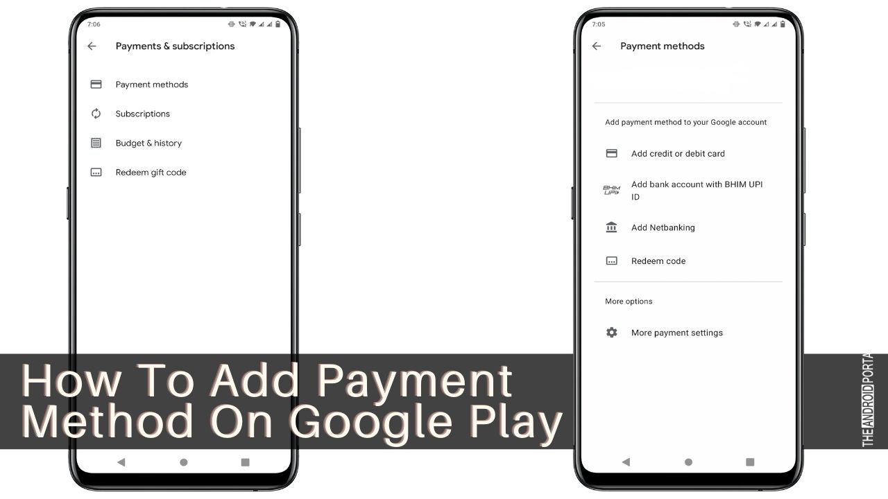 How To Add Payment Method On Google Play