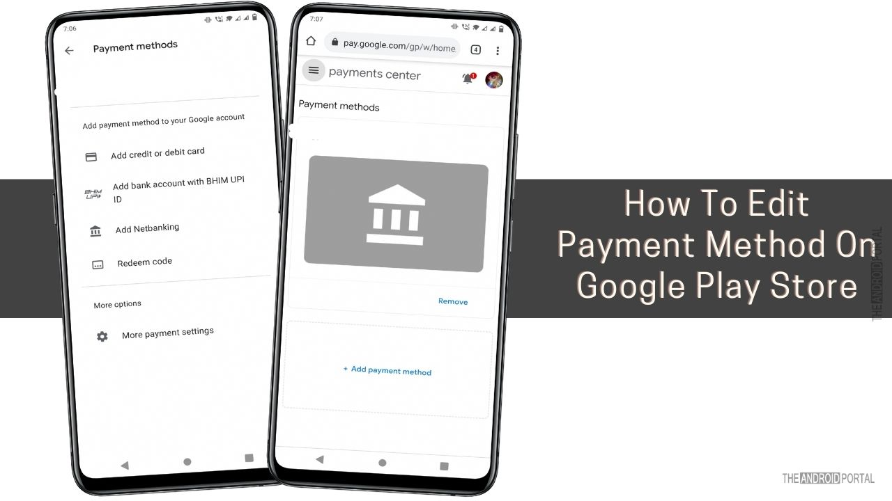 How To Edit Payment Method On Google Play Store