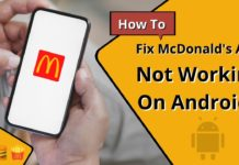 How To Fix McDonald's App Not Working On Android
